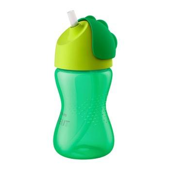 Avent, kubek z giętką słomką, zielony, 12m+, 300ml, 1szt.