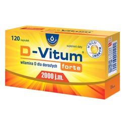 D-Vitum Forte 2000 j.m., kapsułki z witaminą D dla dorosłych, 120 szt.