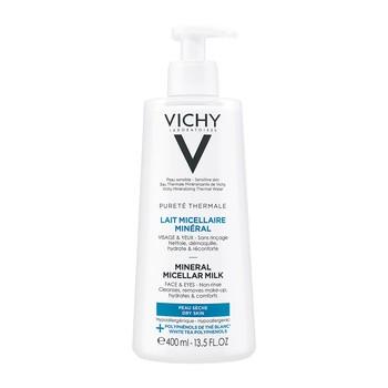Vichy Purete Thermale, Minerale mleczko micelarne dla skóry suchej, 400 ml