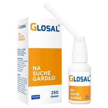 Glosal, spray na suche gardło, 25 ml (250 dawek)