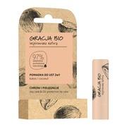 Gracja Bio, pomadka do ust 2w1, ochronno-pielęgnacyjna, kokos, 5 g