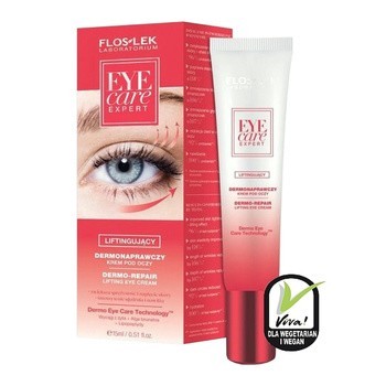 FlosLek Laboratorium, Eye Care Expert, dermonaprawczy liftingujący krem pod oczy, 15ml