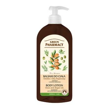 Green Pharmacy, balsam do ciała, oliwka i olej arganowy, 500 ml
