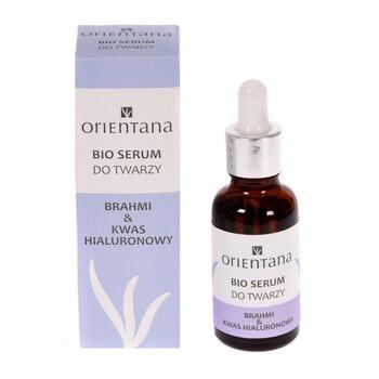 Orientana Bio, serum do twarzy, brahmi & kwas hialuronowy, 30 ml