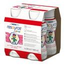 Resource Junior, płyn o smaku truskawkowym, 4 x 200 ml