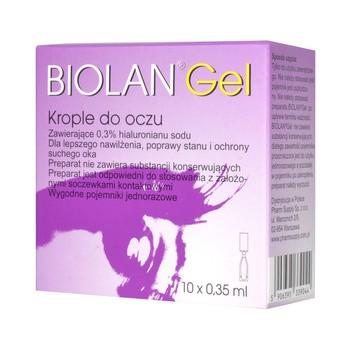 Biolan Gel, 0,3%, krople do oczu, 0,35 ml, 10 minimsów