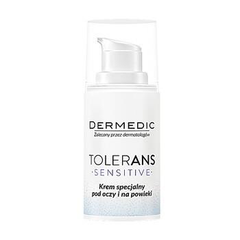 Dermedic Tolerans Sensitive, krem specjalny pod oczy i na powieki, 15 g