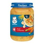 Gerber, rosół z cielęcinką, 9 m+, 190 g