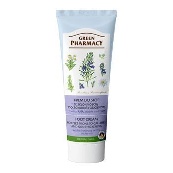 Green Pharmacy, krem do stóp, przeciw odciskom i zgrubieniom, kwasy AHA, olejek cedrowy, 50 ml + 25 ml