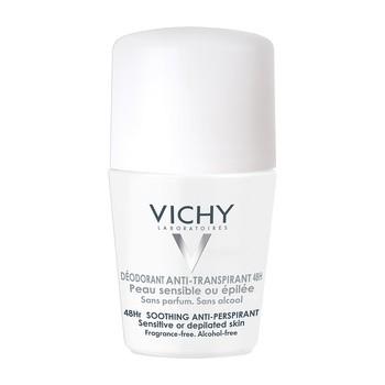 Vichy, antyperspirant w kulce do skóry wrażliwej lub po depilacji, 50 ml