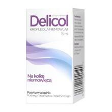 Delicol, krople dla niemowląt, 15 ml