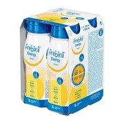 Frebini Energy Drink, płyn, smak bananowy, 4 x 200 ml