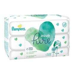 Pampers Aqua Pure, chusteczki nawilżane dla niemowląt, 3 x 48 szt.