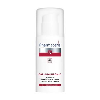 Pharmaceris N Capi-Hialuron-C, dermo-strukturalny krem korygujący zmarszczki, SPF 20, 50 ml