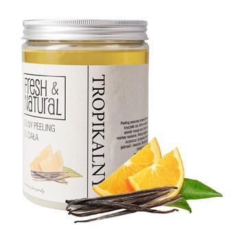 Fresh&Natural, solny peeling do ciała, tropikalny, 1300 g