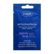 Ziaja Jagody Acai, maseczka na twarz i szyję na noc aktywnie wygładzająca, 7 ml (saszetka)