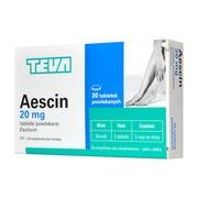 Aescin, 20 mg, tabletki powlekane, 30 szt.