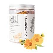 Fresh&Natural, rozgrzewająca sól do kąpieli, nagietek, cynamon, pomarańcza, 1000 g