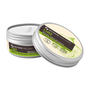 Botame Wellness Lime, świeca do masażu z masłem shea, 50 ml