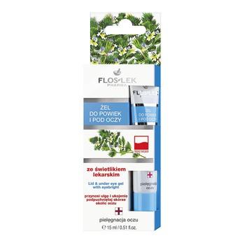 FlosLek Pharma, żel do powiek i pod oczy, ze świetlikiem lekarskim, 15 ml