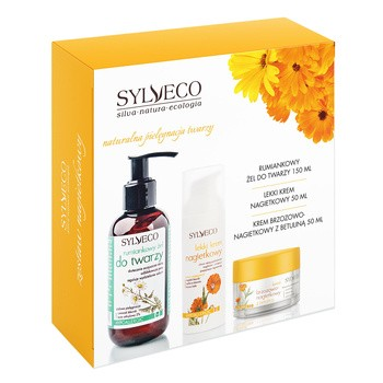 Zestaw Promocyjny Sylveco, krem brzozowo-nagietkowy 50 ml + lekki krem nagietkowy, 50 ml + rumiankowy żel, 150 ml