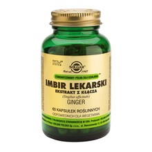 Solgar Imbir lekarski - ekstrakt z kłącza, kapsułki, 60 szt.
