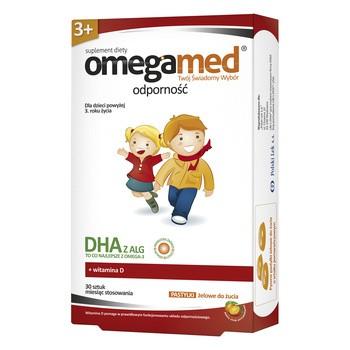 Omegamed Odporność 3+, pastylki żelowe do żucia, 30 szt.