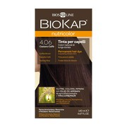 Biokap Nutricolor, farba do włosów, 4.06 kawowy brąz, 140 ml
