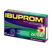 Ibuprom Zatoki, 200 mg + 30 mg, tabletki powlekane, 24 szt.