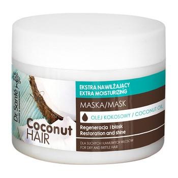 Dr Sante Coconut Hair, ekstra nawilżająca maska do włosów suchych i łamliwych, olej kokosowy, 300 ml