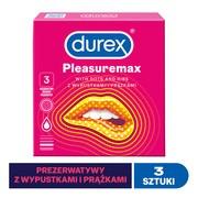 Durex Pleasuremax, prezerwatywy ze środkiem nawilżającym, 3 szt.