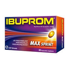 Ibuprom Max Sprint, 400 mg, kapsułki miękkie, 40 szt.