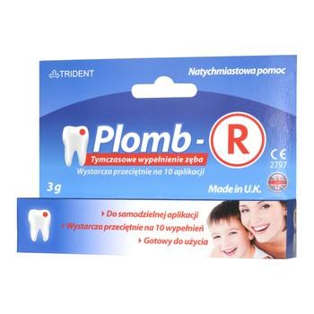 Plomb-R, tymczasowe wypełnienie zęba, pasta, 3 g