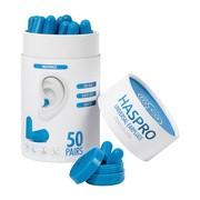 Haspro Tube, stopery do uszu, niebieskie, 50 par