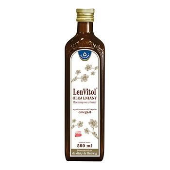 LenVitol olej lniany, tłoczony na zimno, 500 ml