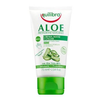 Equilibra, aloesowy krem do rąk i paznokci, 75 ml