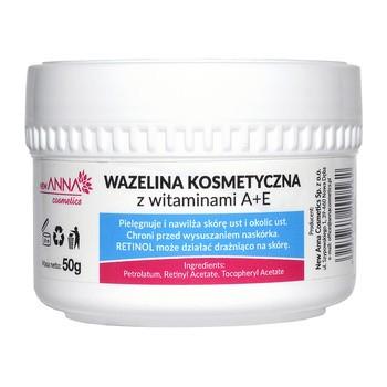 New Anna Cosmetics, wazelina kosmetyczna z witaminami A+E, 50 g