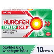 Nurofen Express Forte, 400 mg, kapsułki miękkie, 10 szt.