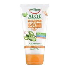 Equilibra Aloe, aloesowy krem przeciwsłoneczny SPF 50+, filtry UVB i UVA, 75 ml