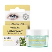 FlosLek Laboratorium, rozświetlający krem pod oczy świetlik i witamina C, Łagodzenie, 15 ml
