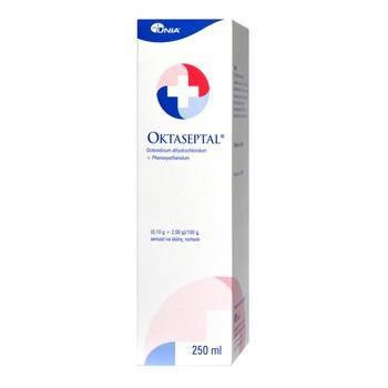 Oktaseptal, (0,10 g+2,00 g)/100 g, aerozol na skórę, 250 ml