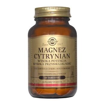 Solgar Magnez Cytrynian, tabletki, 60 szt.