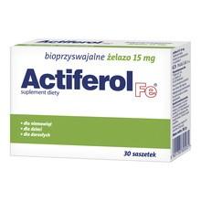 Actiferol Fe, 15 mg, proszek do rozpuszczania, saszetki, 30 szt.