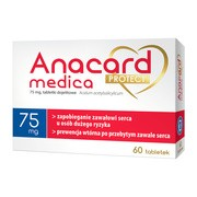 Anacard Medica Protect, 75 mg, tabletki dojelitowe, 60 szt.