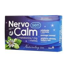 NervoCalm Sen z melatoniną i melisą, tabletki powlekane, 20 szt.