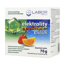 Elektrolity z Probiotykiem Labor, proszek, 70 g, 20 saszetek