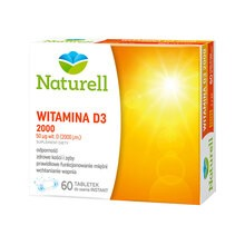 Naturell Witamina D3 2000, tabletki do ssania, 60 szt.