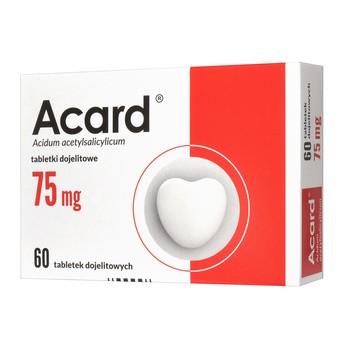 Acard, 75 mg, tabletki dojelitowe powlekane, 60 szt.