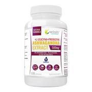 Wish Ashwagandha Extract 500 mg + L-leucyna + Prebiotyk, kapsułki, 120 szt.