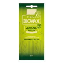 Biovax Bambus & Olej Avocado, intensywnie regenerująca maseczka do włosów, 20 ml